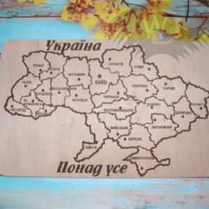 Карта Украины Р-19