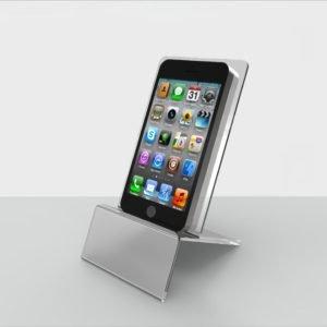 Акриловая подставка для телефона прозрачная