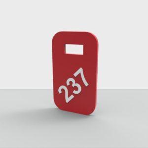 Номерок акриловый цветной 40х70 мм