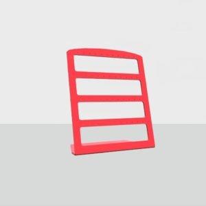 Подставка для сережек пластик красная