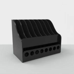 Подставка для косметики: отверстия 15 мм, секции 17х80 мм