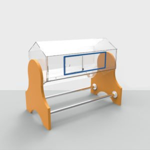 Лототрон акриловый 30 литров с деревянными ножками