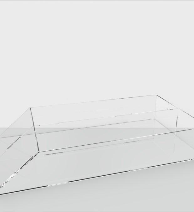 Акриловая коробка 156х52х300 мм