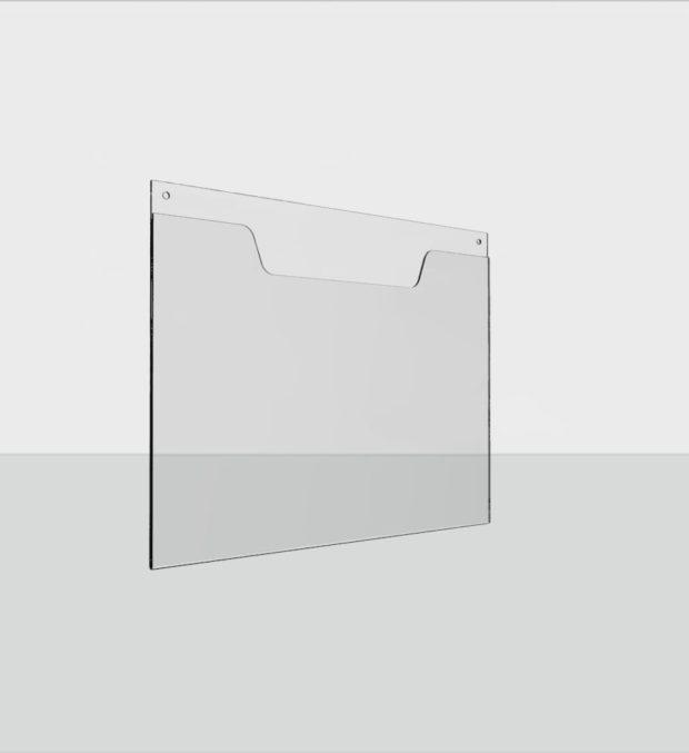 Акриловый плоский карман для информации